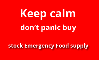 Keep calm, don't panic buy - stock Emergency Food supply | Emergency Food info for Emergency Food Storage and Emergency Food supplies, quality long-shelf life and self-heating emergency food from EVAQ8.co.uk the UK's Emergency Preparedness specialist