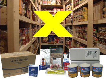 Food Kits | calculate minimum 2 fully blanced meals per day | Emergency Preparedness EVAQ8.co.uk