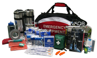 Emergency Preparedness Kit 72 hour Shelter-in-Place including Emergency Food and Water, tools...| Emergency Food info for Emergency Food Storage and Emergency Food supplies, quality long-shelf life and self-heating emergency food from EVAQ8.co.uk the UK's Emergency Preparedness specialist